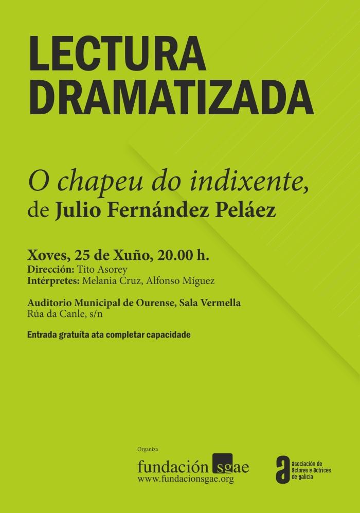 Cartel Lecturas Dramatizadas - Ourense 2015